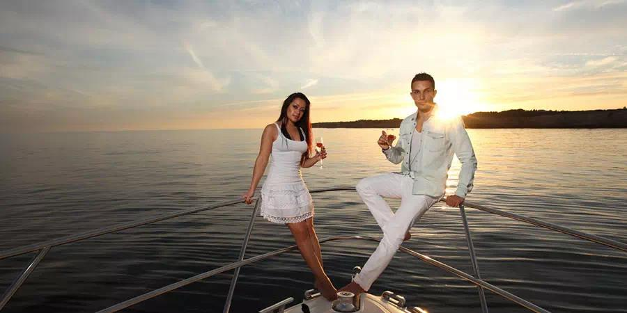 Romantic Marriage Proposal on Private Yacht